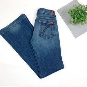 7 For All Mankind DOJO Flare Wide Leg Blue Jeans